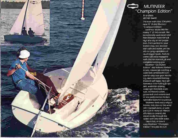 Mutineer Timeline. 1979 Chion Edition Ad. Chrysler. Chrysler Sailboat Wiring At Scoala.co